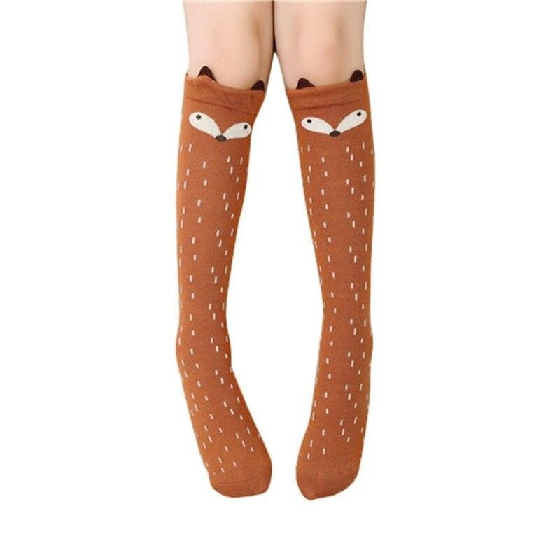 Cartoon Cute Kids Cotton Socks Bear Animal Baby Cotton Socks Knee High Long Leg Warmers Socks Children Socks 3-12 Years