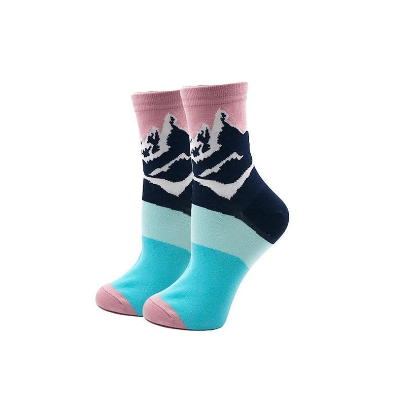 85% Cotton Women's Socks Harajuku Colorful Cartoon Cute Funny Kawaii Dog Cat Pig Fox Space Socks