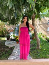 Load image into Gallery viewer, Myla Laced Maxi Dress (Hot Pink)