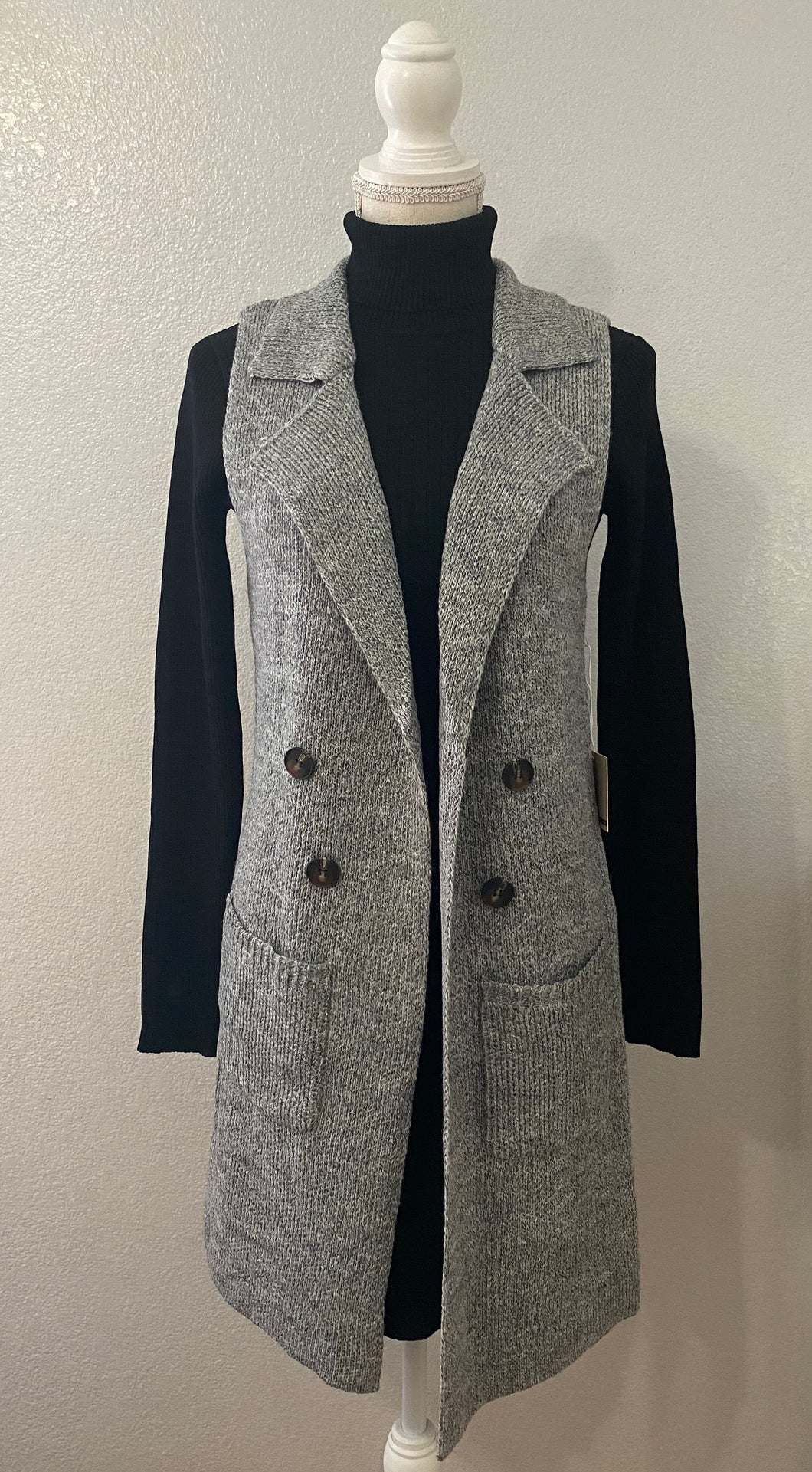 Fall For Me Vest (Grey)