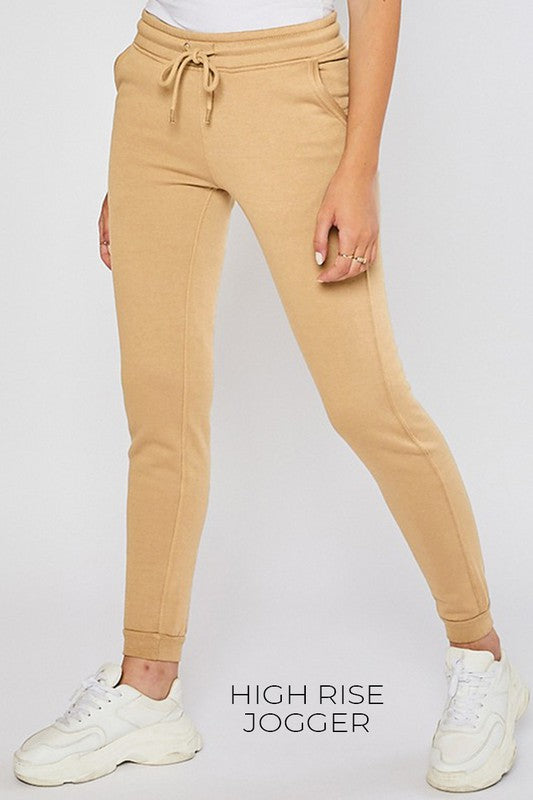 Pocket Fleece Joggers (Tan)