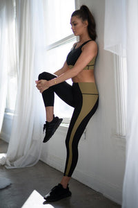 Color Block Legging (Olive)