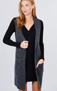 Fall For Me Vest (Charcoal)