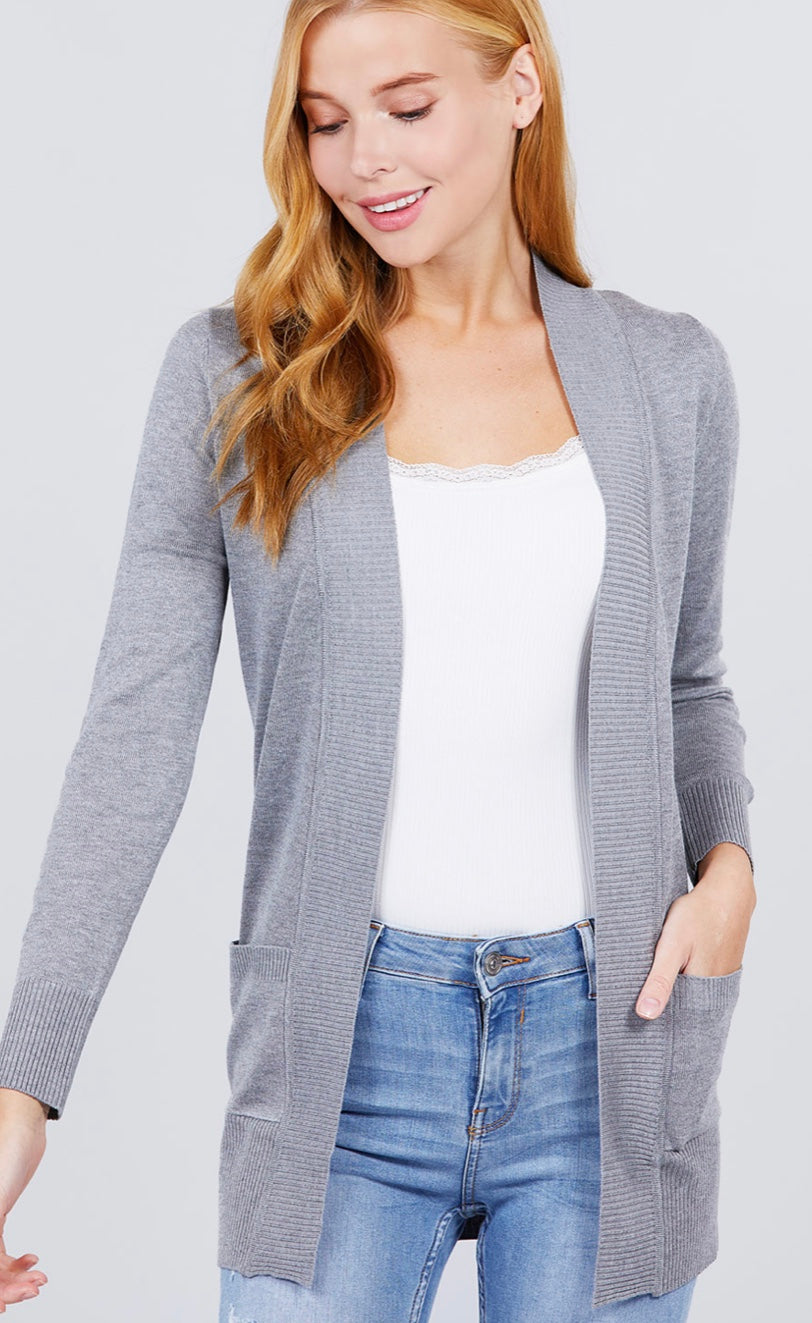 Timeless Cardigan (Grey)