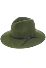 Load image into Gallery viewer, Faux Leather Tie Wool Fedora