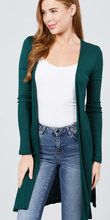 Load image into Gallery viewer, Throw it on Cardigan (Teal Green)