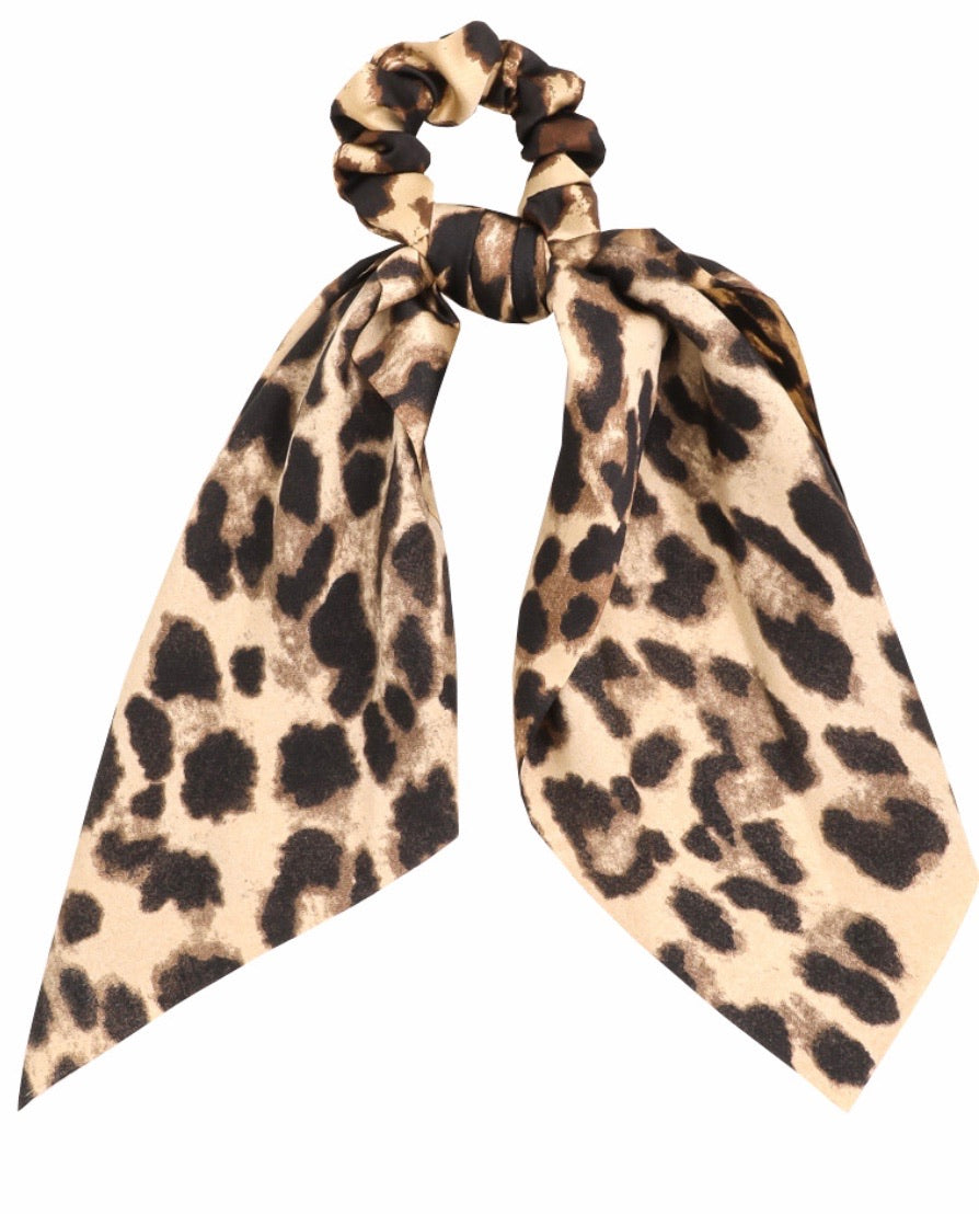 Leopard Print Tail Scrunchie