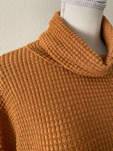 The Turtle Neck Waffle Top