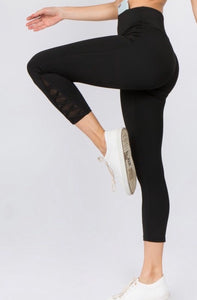 Lace Up High Waist Leggings