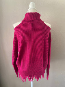 Pink Turtle Neck Knit Top