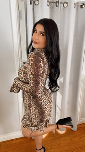 Wild Leopard Mini Dress