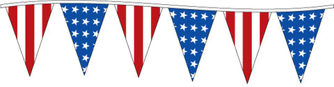 105FT Pennant String: Americana USA Pennants