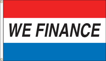 Tri-Color Message Flag: We Finance