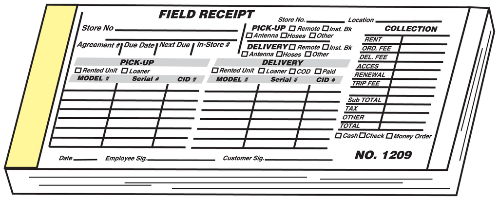 Field Receipts