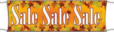 Giant Outdoor Banner: Sale (Fall Theme)