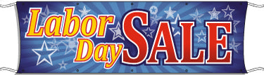 Giant Outdoor Banner: Labor Day Sale