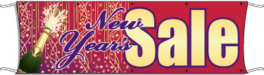 Giant Outdoor Banner: New Year's Sale