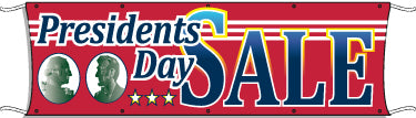 Giant Outdoor Banner: Presidents Day Sale