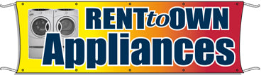 Giant Outdoor Banner: Rent To Own Appliances