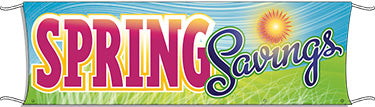 Giant Outdoor Banner: Spring Savings