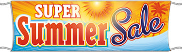 Giant Outdoor Banner: Super Summer Sale