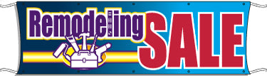 Giant Outdoor Banner: Remodeling Sale