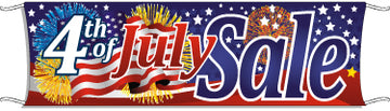 Giant Outdoor Banner: 4th Of July Sale