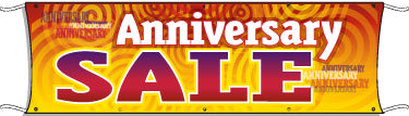 Giant Outdoor Banner: Anniversary Sale (Swirls)
