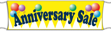 Giant Outdoor Banner: Anniversary Sale (Balloons)