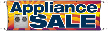 Giant Outdoor Banner: Appliance Sale