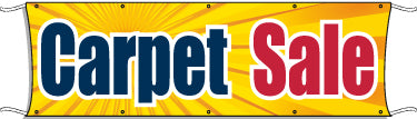Giant Outdoor Banner: Carpet Sale (BURST)