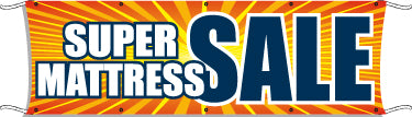 Giant Outdoor Banner: Super Mattress Sale