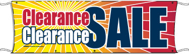 Giant Outdoor Banner: Clearance Sale
