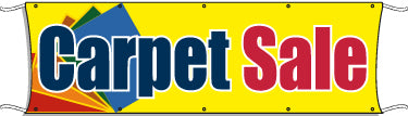 Giant Outdoor Banner: Carpet Sale