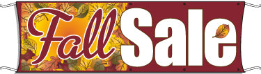 Giant Outdoor Banner: Fall Sale