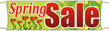 Giant Outdoor Banner: Spring Sale (Flowers)