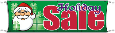 Giant Outdoor Banner: Holiday Sale (Santa)