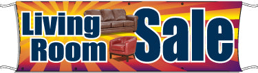 Giant Outdoor Banner: Living Room Sale