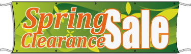 Giant Outdoor Banner: Spring Clearance Sale