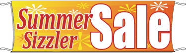 Giant Outdoor Banner: Summer Sizzler Sale