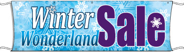 Giant Outdoor Banner: Winter Wonderland Sale