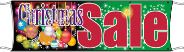 Giant Outdoor Banner: Christmas Sale