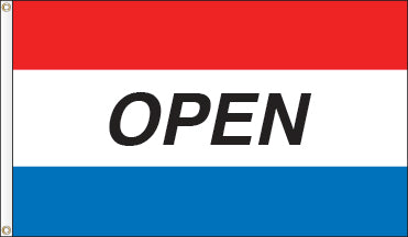 Tri-Color Message Flag: OPEN