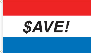 Tri-Color Message Flag: SAVE