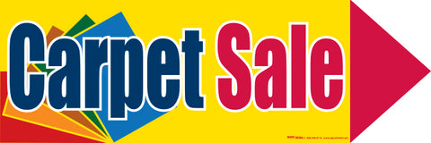 Spinner Sign: Message Carpet Sale (Min 3 Mix & Match)