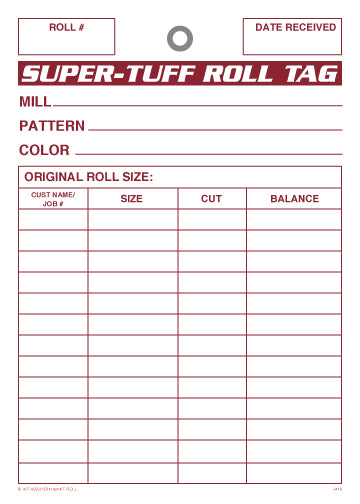 Super Tuff Roll Tags