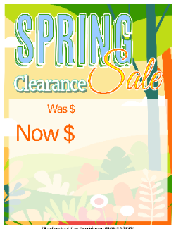 Sale Tags (Pk of 100): Spring Sale 3