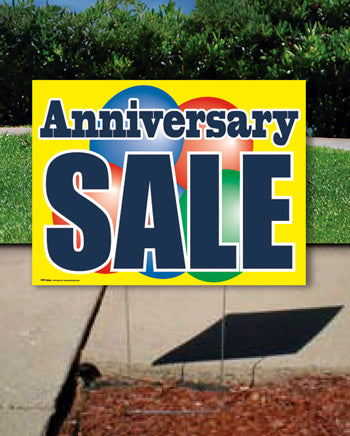 Coroplast Yard Sign: Anniversary Sale