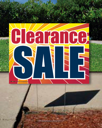 Coroplast Yard Sign: Clearance Sale