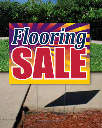 Coroplast Yard Sign: Flooring Sale